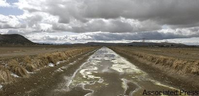Dry Irrigation Canal Near Klamath Falls, Oregon in 2010